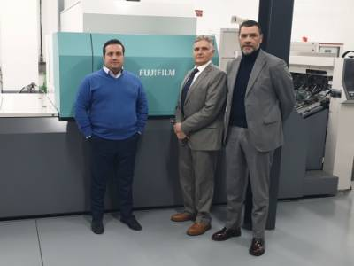 Camporese Spa italian distributor for JetPress 720S Fujifilm sell to Imperial Gutenberg