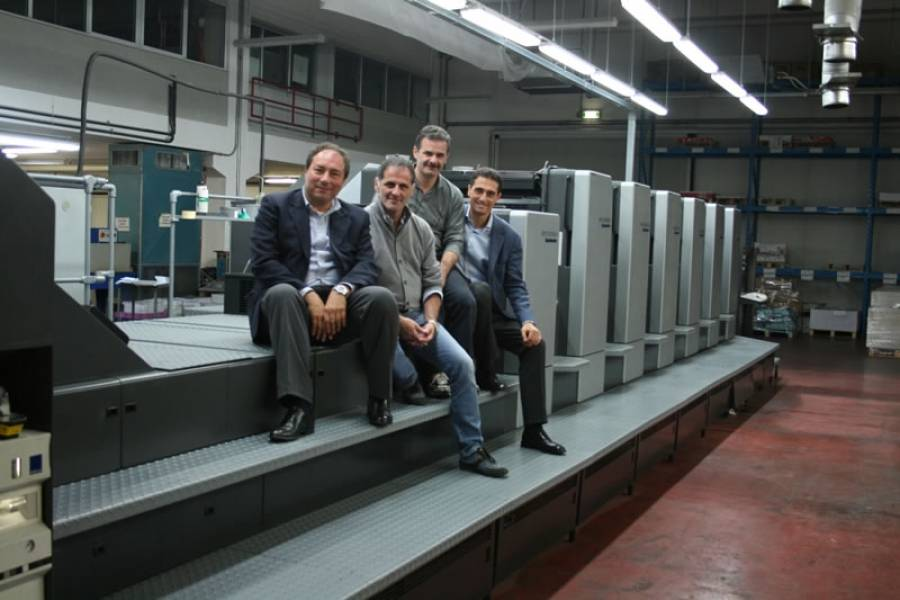 HEIDELBERG CD 6LX IN INSTALLATION TO GRAFICHE VINCENZO BERNARDI TREVISO