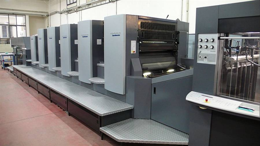 In full production the HEIDELBERG CD5LX to SATE in Ferrara