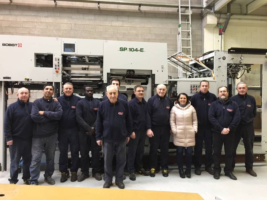 A part of our team for refurbishment and service BOBST die-cutting machines