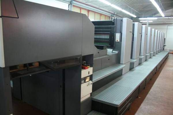 IN FULL PRODUCTION THE HEIDELBERG 10 COLORS JUST INSTALLED IN SILEAGRAFICHE TREVISO