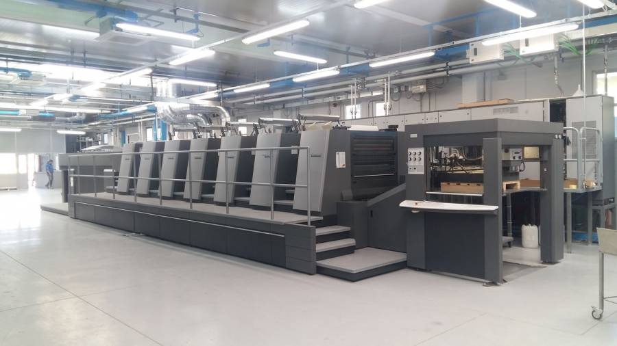 Camporese sold an Heidelberg XL105-6LX3-UV to Scatolificio Cristina of Varese (IT) - a company of Pusterla 1880 Group